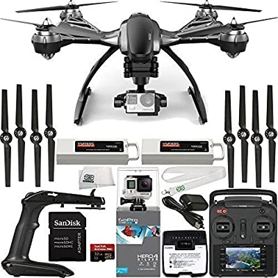 YUNEEC Typhoon G Quadcopter with GB20 Gimbal for GoPro (RTF) & Manufacturer Accessories + Extra 5400mAh LiPo Flight Battery + GoPro HERO4 Silver + SanDisk Extreme PRO 32GB microSDHC Memory Card + MORE