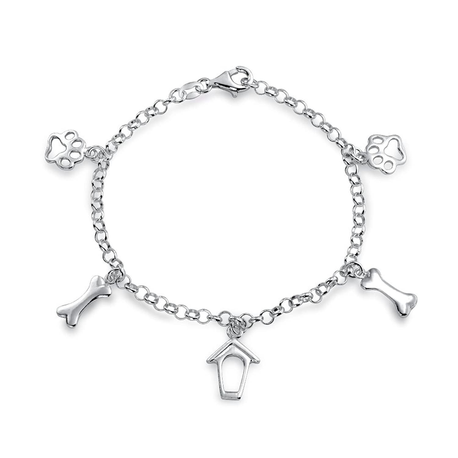 Bling Jewelry 925 Silver Dog Charms