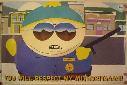 South Park Poster Cartman Respect My Authority