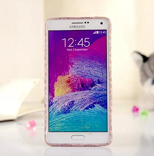 """Comic Series TPU Soft Case for Samsung Galaxy NOTE4 NOTE IV Funny Colorful Cartoon Glitter Pearlized Back Cover,with Gift """"Head Malory"""" Logo Cellphone Bag"""