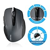 TeckNet Pro 2.4G Ergonomic Wireless Mobile Optical Mouse with USB Nano Receiver for Laptop,PC,Computer,Chromebook,Macbook,Notebook,6 Buttons,24 Month Battery Life,3 DPI Adjustment Levels