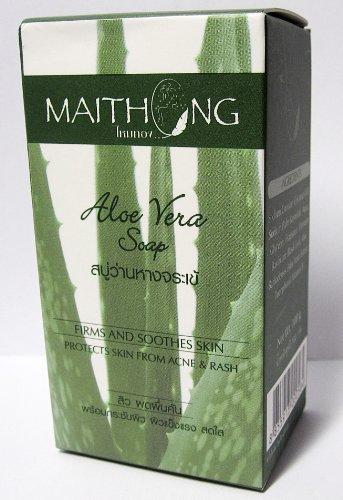 Thai Aloe Vera Savon Aloe Vera Extrait entreprises plus de vitamine E et apaise la peau protéger la peau contre l'acné et les éruptions cutanées Visage et Corps