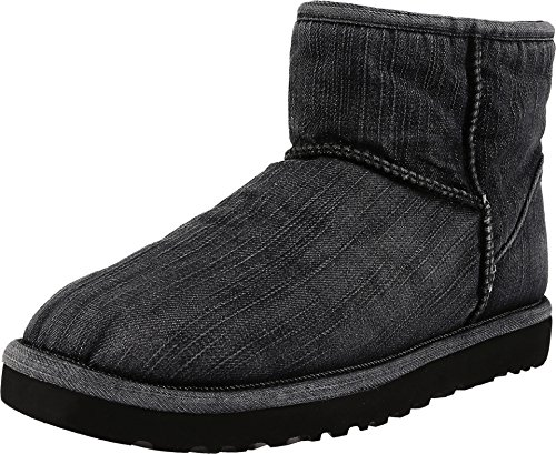 UGG Men's Classic Mini Washed Denim Black Denim Boot 18 D (M)