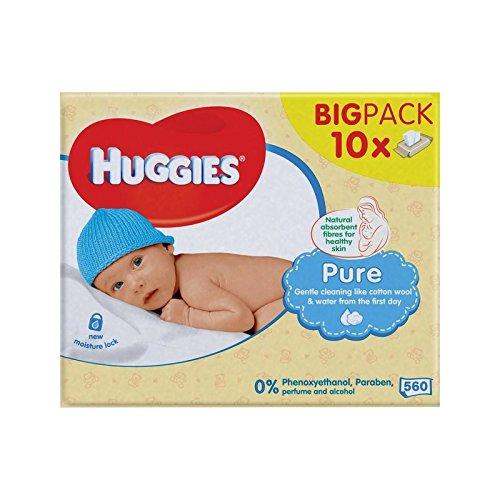 純粋な赤ちゃんがパックあたり10×56を払拭します (Huggies) (x 6) - Huggies Pure Baby Wipes 10 x 56 per pack (Pack of 6) [並行輸入品]   B01M0WV3VL
