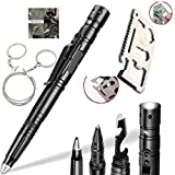 Multitools Tactical Pen Self Defense Pen(with Tactical Flashlight & Glass Breaker),Wallet Tool Pocket Tool 11 in 1 Credit Card Tool,Pocket Saw,3 Type/Set Tactical Gear For Fishing Hiking and Gift