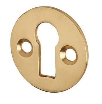 Embellecedor de cerradura. De estilo victoriano. Con bocallave de perfil estándar. Incluye tornillos. 32 mm, dorado, 32 mm: Amazon.es: Hogar