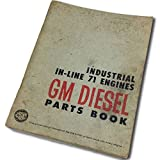 Gm Diesel Industrial In-Line 71 Series Engines Parts Book Manual Catalog Book