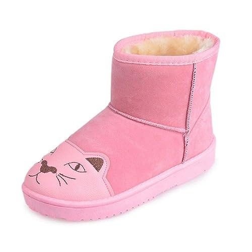 YSFU Botas Botas De Nieve para Mujer Patrón De Dibujos Animados Planos Gruesos Zapatos Calientes Calzado De Damas Botines Piso Exterior Antideslizante ...
