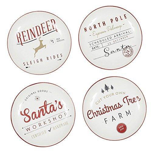 (Design Import India Plate Appetizer Santa, 1 EA)