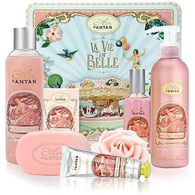 Beauty Box Set ROSE 5 Produkte Un Air d'Antan: 1 Duschgel 250ml, 1 Handcreme 25ml, 1 Seife 100g, 1 Körperlotion 200ml, 1…
