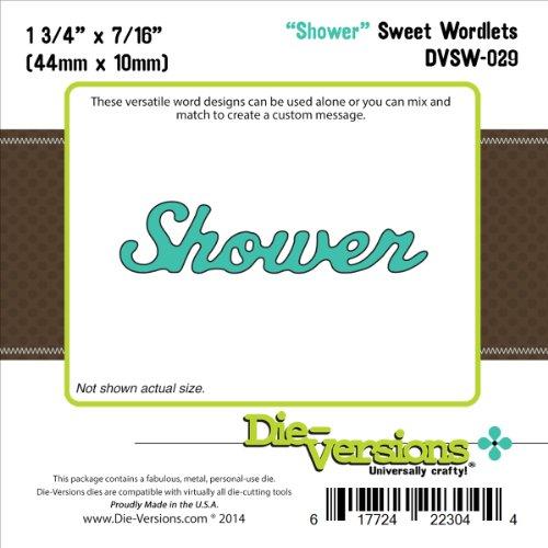 Die-Versions Sweet Wordlets Die Cuts, 1.75 by 0.437-Inch, Shower