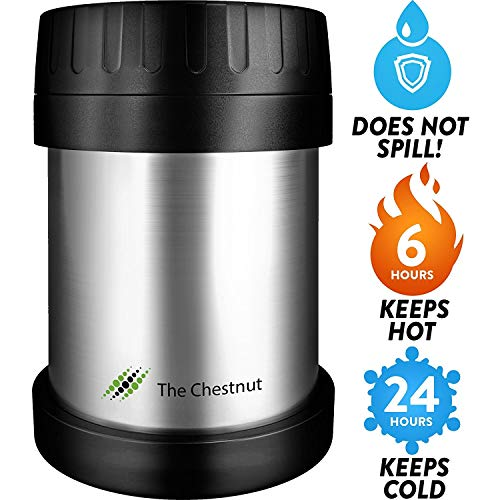 (Soup Thermos Food Jar for Hot Food 10 oz - Non-Insulated Small Stainless Steel Thermo Lunch Box - Small Travel Vacuum Metal Container - Food Flask Wide Mouth)