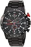 GV2 by Gevril Scuderia Mens Chronograph Swiss Quartz Alarm GMT Black Stainless Steel Sports Racing Watch, (Model: 9900B)