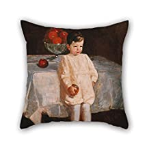 18 X 18 Inches / 45 By 45 Cm Oil Painting George Luks - Sulky Boy Pillow Covers 2 Sides Is Fit For Teens Relatives Home Office Couch Floor Teens