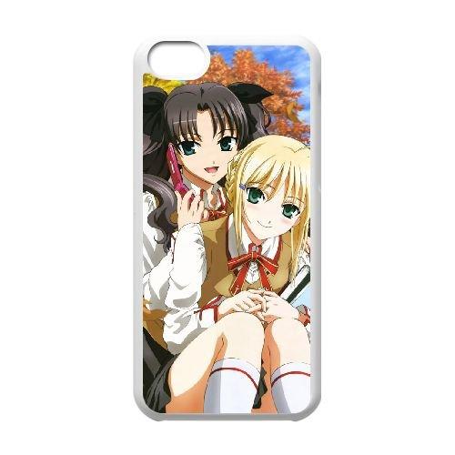 Fate Stay Night 015 coque iPhone 5C Housse Blanc téléphone portable couverture de cas coque EOKXLLNCD12854