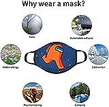 ZiNox Among Us Game Crewmates Impostor Face Mask 3D