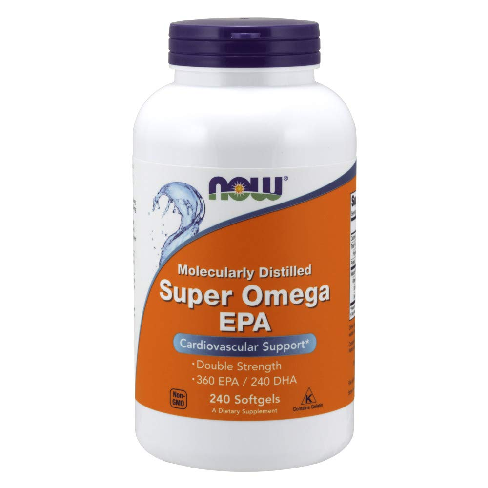 Now Supplements, Super Omega EPA, Molecularly Distilled, 240 Softgels by NOW Foods