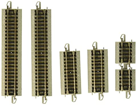 Bachmann Assortment Sections Straight Track (Short Pieces) - N Scale (Bachmann N Scale Track Layouts)