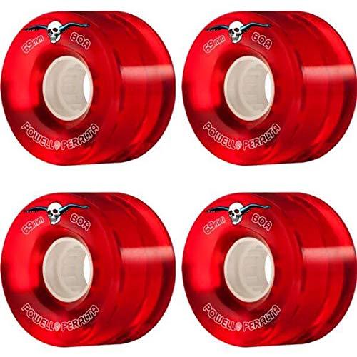 特徴づける緩む王子powell-peralta Clear Cruiser Redスケートボードホイール – 69 mm 80 a (Set of 4 )