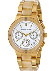 Kenneth Jay Lane Womens 2140 2100 Series Analog Display Japanese Quartz Gold Watch