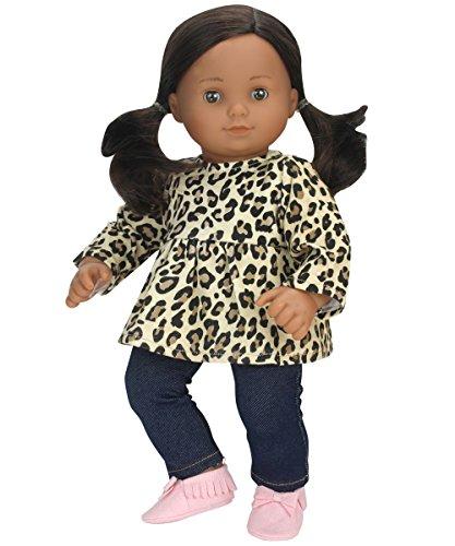 2d2c815439f Sophia s 15 inch Doll Clothing Cheetah Print Tunic   Leggings Fits 15 Inch  American Girl Bitty