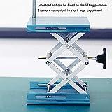 OESS Lift Table Lab Stand Lifter Scientific Scissor Lifting Jack Platform 8''X 8'' Aluminium Oxide