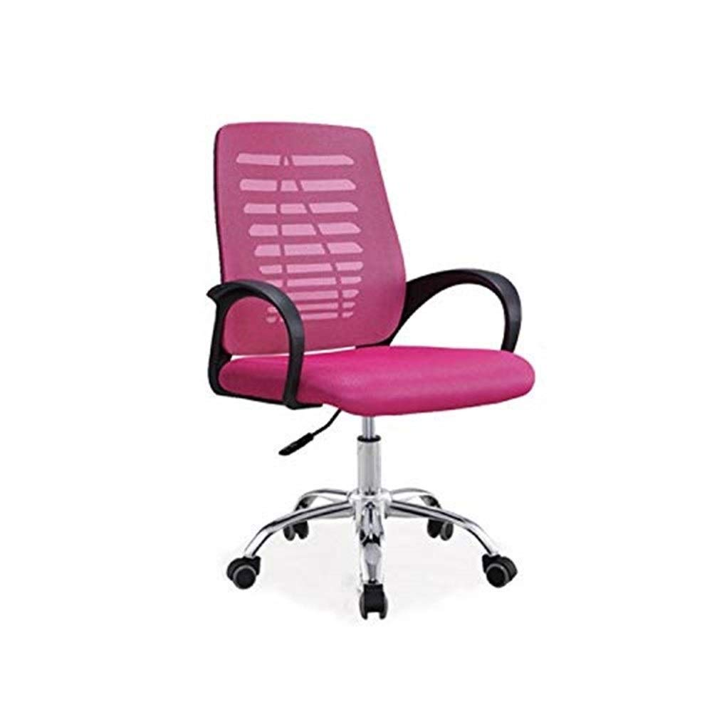 Hxnyz Office Chair Staff Office Chair Simple Modern mesh Office Swivel Chair Home Computer Chair (Color : Blue) (Color : Red)