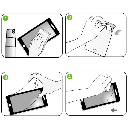 """Original THESMARTGUARD """"Spiegel"""" Schutzfolie (Vorder- und Rückseite) für iPhone 5 / 5S"""