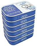 Smoked Trout Fillets in Oil, Skinless, (Pack of 6), 3.9 oz Tin - Trader Joe s