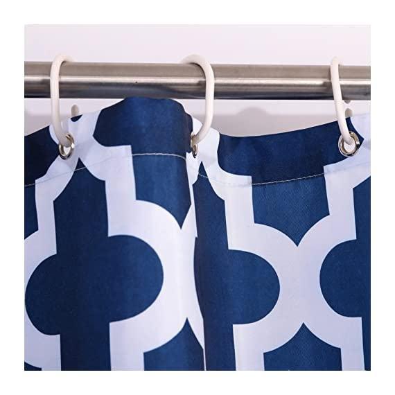 "Luunaa Geometric Patterned Shower Curtain Waterproof  , 72 x 72 Inch with 12 Hooks (Blue Geometric 72"" x 80"" ) - The fabric does not fade, perfectly weighted, very durable and easy care, use wet cloth and mild detergent to wipe off the dirt or machine wash directly. 72"" x 72"" (180 x 180 cm)/ 72"" W x 80"" L( 180W x 200L cm) for multiple choices; 12 Rust Proof Metal Grommets; Package include 1 x shower curtain and 12 x plastic curtain hooks We offer you high quality products with so favorable price and best service . Items can be returned within 30 days of receipt of shipment if you are not satisfied for any rea - shower-curtains, bathroom-linens, bathroom - 51O5zrro0aL. SS570  -"