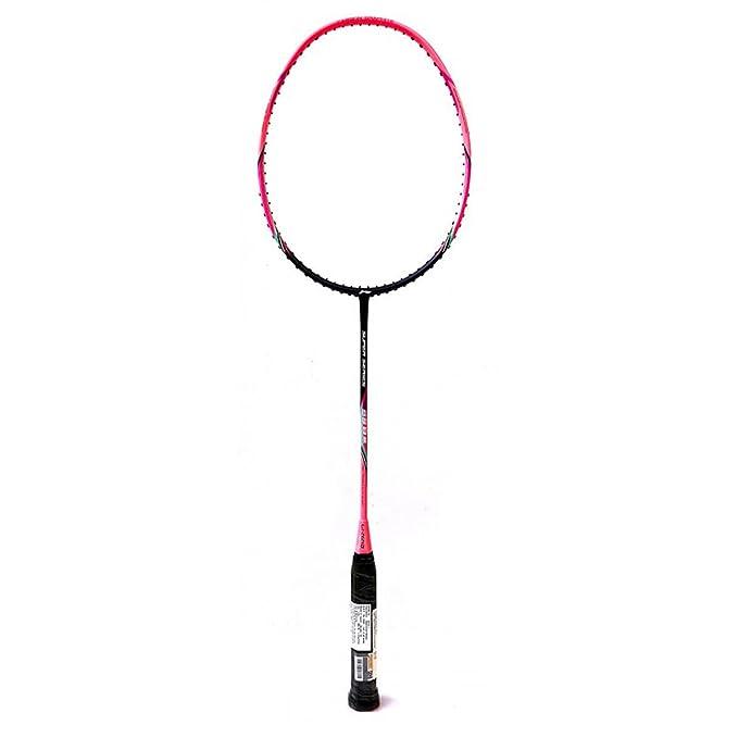 Li-Ning SS-8 III Carbon-Fiber Badminton Raquets (Pink/Purple) Badminton Racquets at amazon