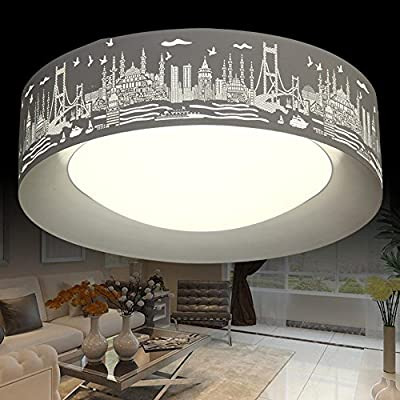 DMMSS Led Ceiling Lamp Round Acrylic Modern Living Room Bedroom