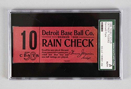 (1906 Detroit Tigers Ticket Stub -Ty Cobb Rookie Season - SGC)