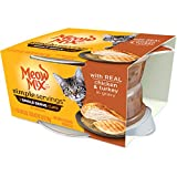 Meow Mix Simple Servings Wet Cat Food with Real Chicken and Turkey in Gravy, 1.3 oz Cups (Pack of 24 Cups)