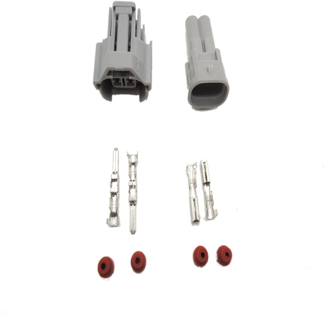 Nippon Denso 10/Set Fuel Injektor Stecker Wasserdicht Auto 2-Pin Wege Electrical Wire Anschluss Stecker Automobil-Stecker und Buchse