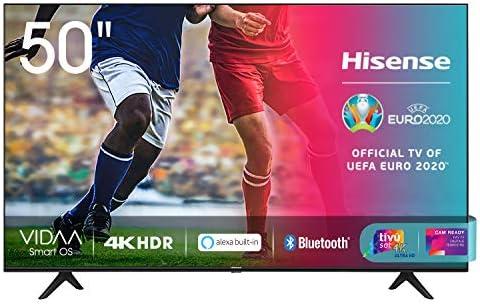 Hisense 50AE7000F, Smart TV LED Ultra HD 4K 50″, HDR 10+, Dolby DTS, Alexa integrata, Tuner DVB-T2/S2 HEVC Main10 [Esclusiva Amazon – 2020]