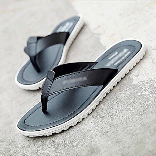 Gris los antideslizantes de los tendencia del verano deslizadores al Zapatillas aire de aire el del hombres libre de la calzan libre al ocio B1qdnvw