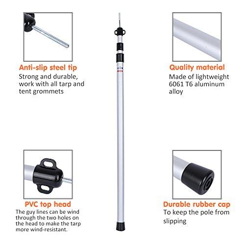Natural Hi-Gear Tarp Telescopic Pole 230cm One Size