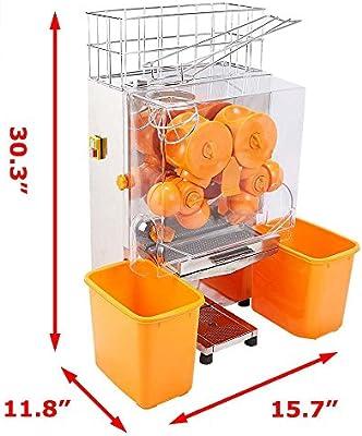 SucceBuy - Exprimidor de naranjas, 20 a 22 naranjas, máquina automática comercial: Amazon.es