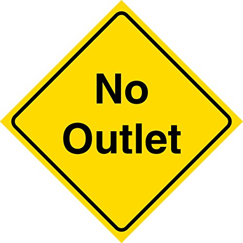 Yellow Road Sign - Yellow Diamond Road Notice No Outlet Neighborhood Street Commercial Metal Sign, 12x12