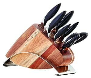 Amazon.com: Savora alemán Acero bloque de cuchillos Set ...