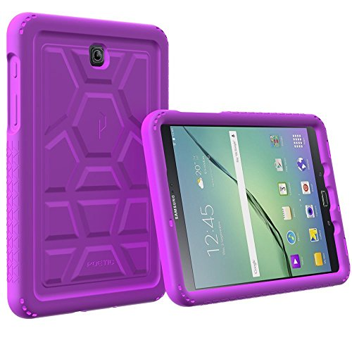 Galaxy Tab A 8.0 (2015) Case - Poetic TurtleSkin Series[Corner Protection][Tactile side Grip][Sound-Amplification][Bottom Air Vents] Protective Silicone Case for Samsung Galaxy Tab A 8.0 (2015) Purple