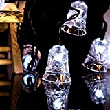 Hulorry Solar Fairy String Lights, Solar String Lights Outdoor Waterproof Solar Fairy String Lights Bell Decorative Lighting for Patio Lawn Landscape Garden Home Wedding Holiday
