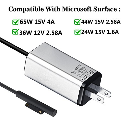 Surface Book Surface Pro 3//4//5//6 Ygj Microsoft Surface Charger For Surface Go