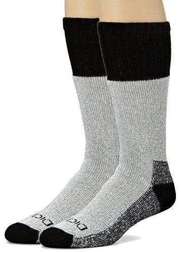 Dickies Men's High Bulk Acrylic Thermal Boot Crew Socks, Black, 4 Pair (Socks Thermal Boot)