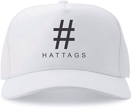 Amazon.com: hattags Premium [Blanco] – Famosa marca Caps ...