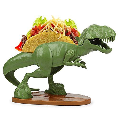 TACOsaurus Rex Taco Holder - Dinosaur T-Rex Novelty Taco Stand Party Plate -