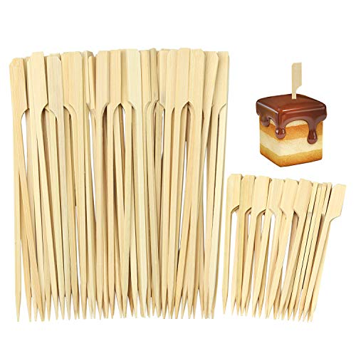 Label Cocktail - Aneco 300 Pieces Bamboo Skewers Barbecue Bamboo Skewers Cocktail Paddle Sticks for BBQ Party Supplies (3.5 Inch and 7 Inch)