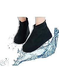 Cubre Zapatos Protector Zapatos Para Llluvia- Impermeable Cubierta Protectora De Zapatos Para Lluvia De Silicona Anti derrapantes Antideslizantes plegable (Negro, Grande)