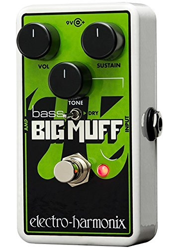 (Electro-Harmonix Nano Bass Big Muff Bass Distortion Effects Pedal)